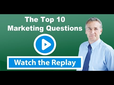 Accountant Marketing Webinar – The Top 10 Marketing Questions