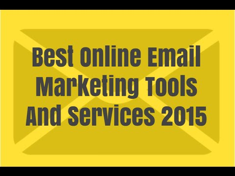 Best Online Email Marketing Tools And Services 2015