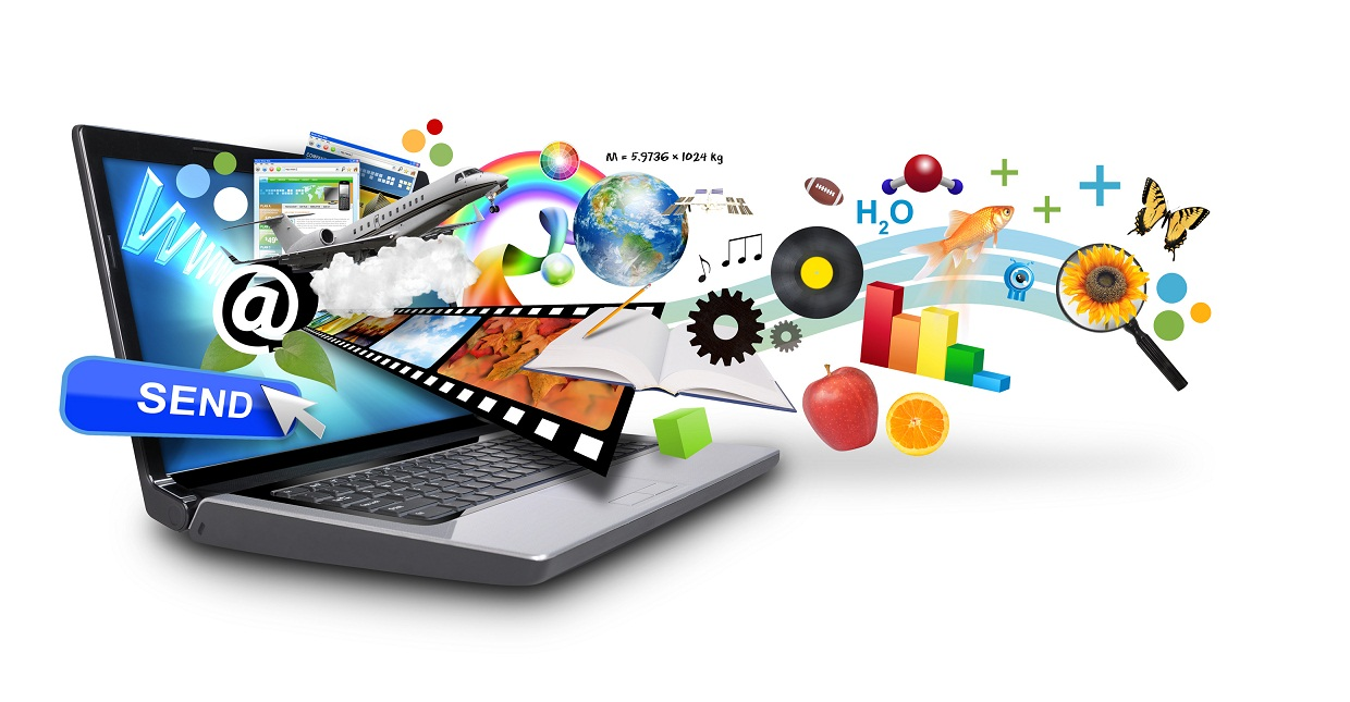 Multi Media Internet Laptop with Objects